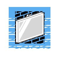 Pixel Impact Ecrans Haute Luminosité Vitrine Digitale : Montage Au Mur